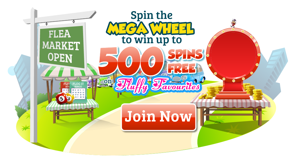 Win Up to 500 Free Spins on Fluffy Favourites | Flog It Bingo